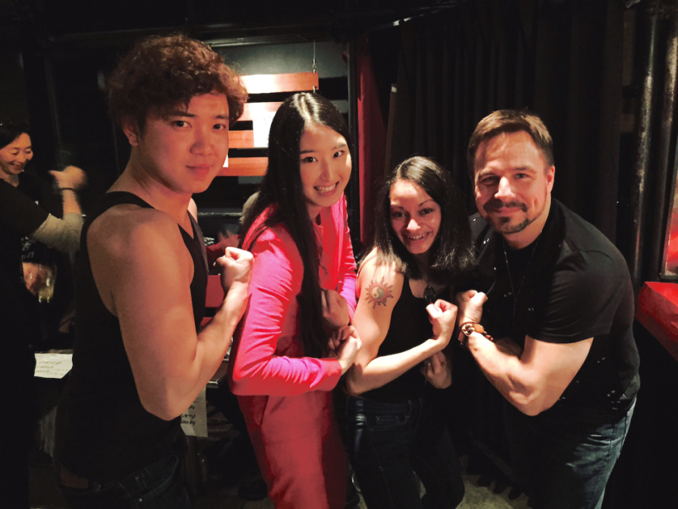 Rogi & Bean with Makotomo Sonohara & Shoka Okubo ... Showing guns!