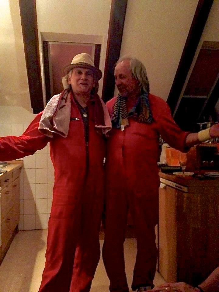 Todd & Barney, matching jump suits • Germany