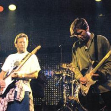 Todd with Eric Clapton & Sheryl Crow