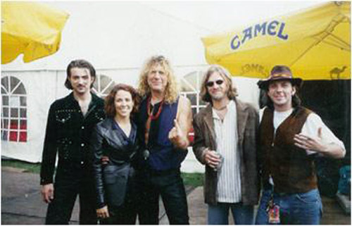 Todd, Sheryl and band members with Robert Plant